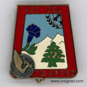 Chasseurs 420° DSL Compagnie Appro Liban FINUL Insigne Delsart 17° Mandat