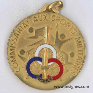 Commissariat aux Sports Militaires CSM Médaille d'or
